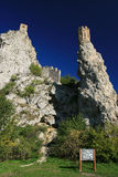 Towers of Devin castle Stock Images