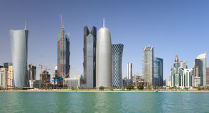 Towers in Doha, Qatar Stock Photos