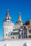 Towers and domes of the Izmailovo Kremlin in Moscow Royalty Free Stock Images