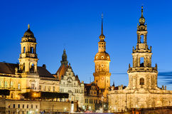 Towers of Dresden, Germany. The towers of Dresden at night, Germany Stock Image