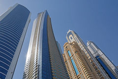 Towers of Dubai Royalty Free Stock Photography