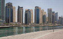 Towers of Dubai. Towers of district Marina in Dubai Stock Photography