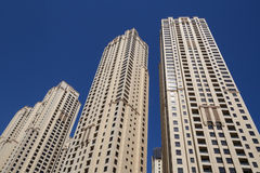 Towers in Dubai. View on tops of towers in Dubai Royalty Free Stock Image