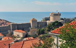 Towers of Dubrovnik old town. Croatia Royalty Free Stock Photography