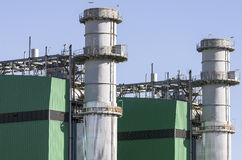 Towers of evaporation of a thermal power plant Royalty Free Stock Photos