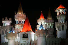Towers of Excalibur at night Royalty Free Stock Images