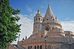 Towers of Fisherman's bastion, Budapest Stock Image