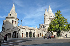 Towers of Fishermen's Bastion in the Buda castle, Budapest Stock Image