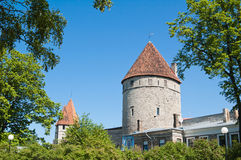 Towers of a fortification of Tallinn Stock Photography