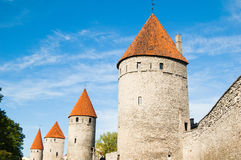 Towers of a fortification of Tallinn Stock Images