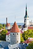 Towers of a fortification of Tallinn Royalty Free Stock Image