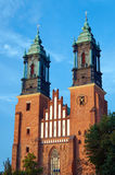 Towers Gothic cathedral church Stock Photo