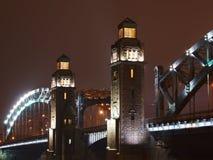 Towers of Great Piter bridge Royalty Free Stock Photo