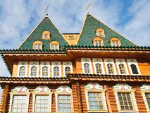 Towers of Great Wooden Palace in Kolomenskoe Royalty Free Stock Photo