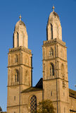 The towers of the Grossmunster Royalty Free Stock Images