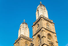 The towers of the Grossmunster Stock Image