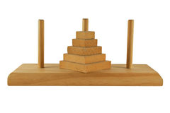 Towers of Hanoi puzzle Stock Image