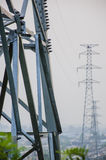 The Towers of High voltage lines Stock Photography