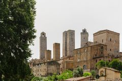 Towers and Houses of San Gimignano royalty free stock image