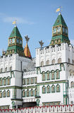 Towers of Izmaylovskiy Kremlin in Moscow, Russia. Towers of Izmaylovskiy Kremlin in Moscow, imitation of ancient Russian architecture Royalty Free Stock Photo