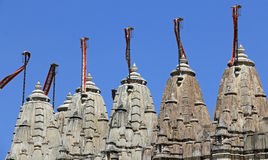 5 Towers of the Jain Temple at Ranakpur Royalty Free Stock Images