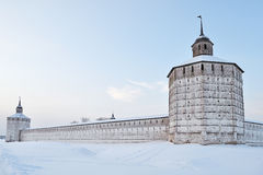 Towers of Kirillo-Belozersky monastery, Russia Stock Image