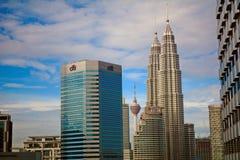 Towers of KL, Kuala Lumpur, Malaysia Stock Photos