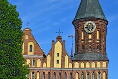Towers Koenigsberg Cathedral. Symbol of Kaliningrad, Russia Stock Images