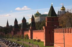 Towers of the Kremlin Royalty Free Stock Photos