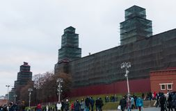 The towers of the Kremlin. On repair Stock Image