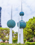 The Towers of Kuwait Stock Photography