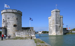 Towers of La Rochelle fortress Royalty Free Stock Photo