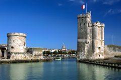 Towers of La Rochelle, France Stock Photography