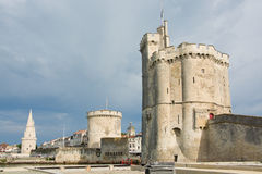 Towers of La Rochelle. View on the towers of La Rochelle, France Stock Images