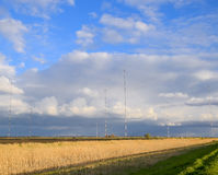 Towers of long-wave communication Goliath. Radio equipment for Stock Photography