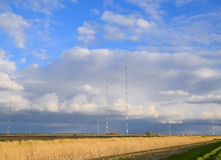 Towers of long-wave communication Goliath. Radio equipment for Stock Photo