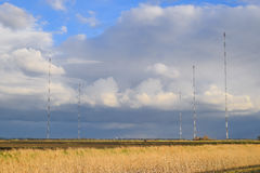 Towers of long-wave communication Goliath. Radio equipment for Royalty Free Stock Images