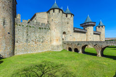 Towers of Medieval Castle, Carcassonne Royalty Free Stock Photo