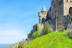 Towers of Medieval Castle, Carcassonne Royalty Free Stock Image