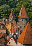 Towers on the medieval city wall in Tallinn, Estonia Stock Image