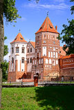 Towers of Mir Castle. In Belarus Royalty Free Stock Photography