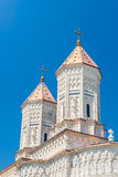Towers of Monastery The Three Holy Hierarchs in Iasi, Romania Stock Photography