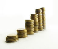 Towers of money royalty free stock images