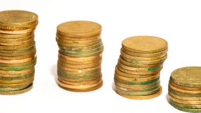 Towers of money Royalty Free Stock Image