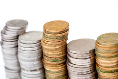 Towers of money Stock Photography