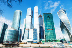 Towers of Moscow City office district Stock Image