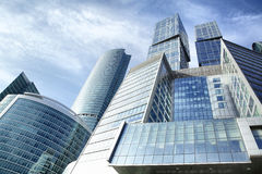 Towers of Moscow city Stock Image