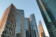 The towers of the Moscow International Business Centre stock images