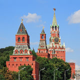 Towers Moscow Kremlin. In solar weather Stock Photography