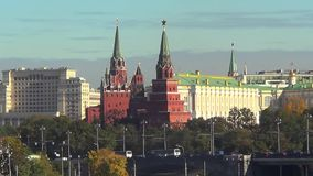 towers of Moscow Kremlin stock footage